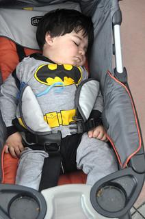 superherokid sleeping