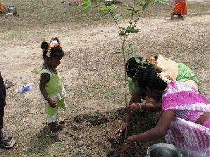 India_-_Kids_-_Planting_trees_for_her_future_(4040009491)
