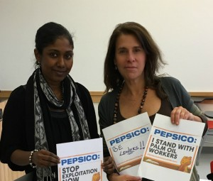 Harriet & Thilmeeza, demanding PepsiCo take action now.